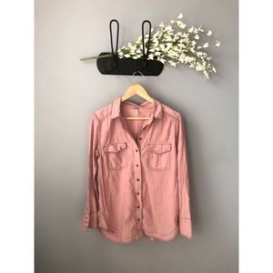 🎀 Free People • Mauve Button Down Top